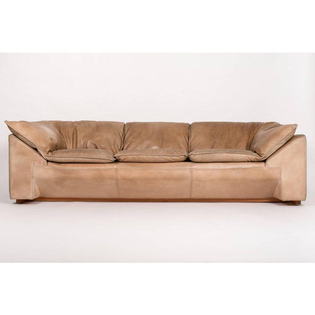 A generous, three-seat sofa designed by Jens Juul Eilersen for his family company, Niels Eilersen in the 1970s. The sofa...