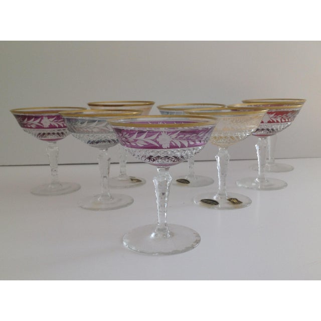 Ebeling-Reuss Cut Crystal Coupe Champagne Glasses - Set of 8 - Image 3 of 7