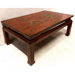 Early 20th-C. Red Chinoiserie Coffee Table Preview