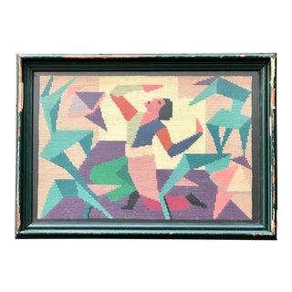 Vintage Abstract Needlepoint Art