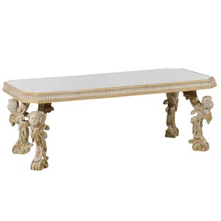 1920s Italian Mirrored Top Coffee Table For Sale