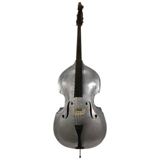 Rare Alcoa Aluminum Double Bass Buffalo NY Art Deco, Machine Age For Sale