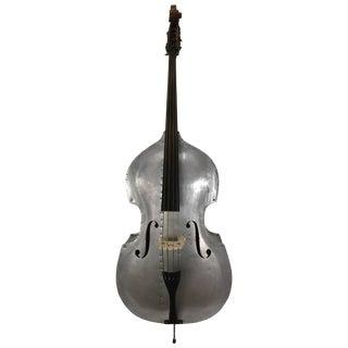 Rare Alcoa Aluminum Double Bass Buffalo NY Art Deco, Machine Age For Sale