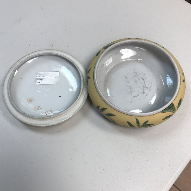 Vintage Oklahoma Importing Co. Porcelain Bowl With Lid For Sale - Image 4 of 7