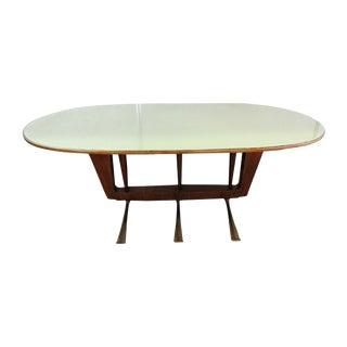 Italian Modern Walnut Dining Table For Sale