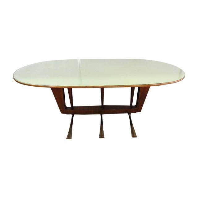 Italian Modern Walnut Dining Table For Sale
