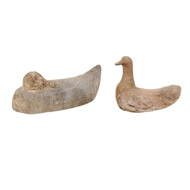 Pair of 19th Century French Carved Stone Ducks For Sale - Image 12 of 12