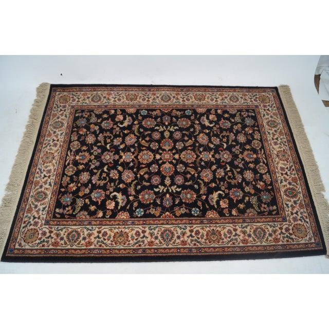 "Vintage Karastan Black Kashan Rug - 4'4"" X 6'10"" - Image 4 of 10"
