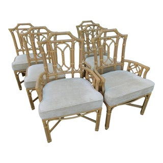 Ficks Reed Pagoda Chairs - Set of 6 For Sale
