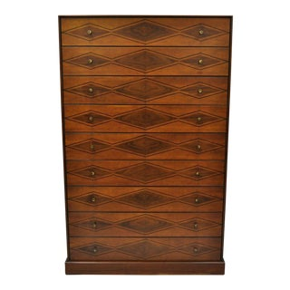 Mid-Century Modern Directional Custom Collection Cherry Tall Chest of Drawers For Sale