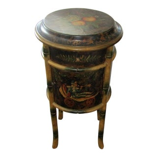 Tropical Monkey Round Accent Table