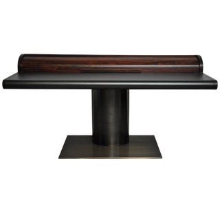 Dunbar Rosewood and Leather Floating Pedestal Desk by Edward Wormley For Sale