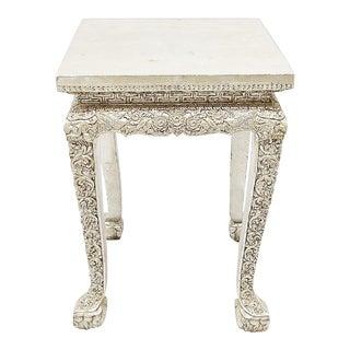 1930s Vintage Silvered Side Table For Sale