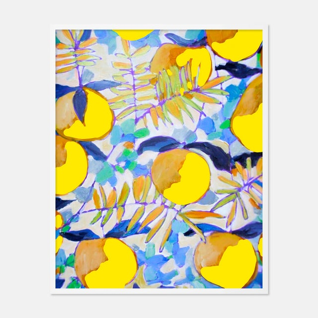 Contemporary Peaches and Cream 1 by Lulu DK in White Framed Paper, Small Art Print For Sale - Image 3 of 3