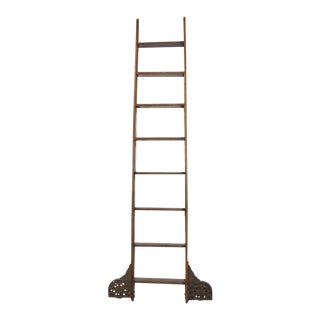 Coburn Trolley Track Mfg Co Antique Library Ladder