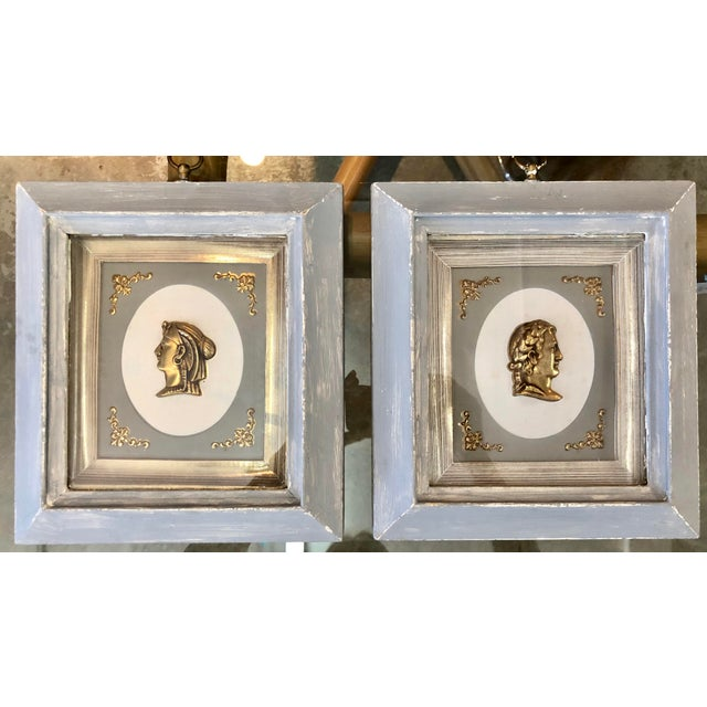 1940s Neoclassic Gilt Profile Frames For Sale - Image 5 of 5