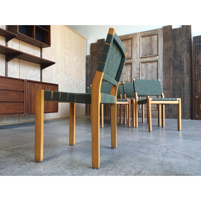 Linen Alvar Aalto Dining Chairs - Set of 8 For Sale - Image 7 of 12
