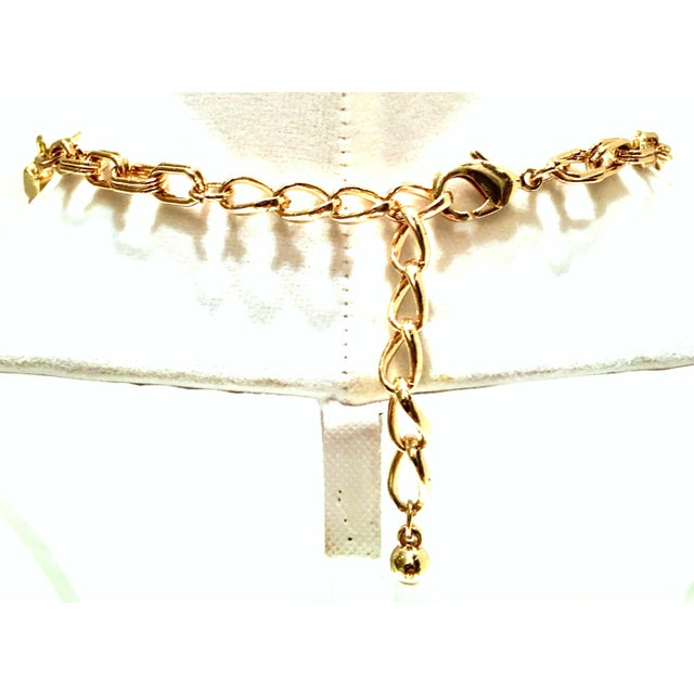 Gold 1980's Modernist Napier Style Gold Plate Wire Collar Choker Necklace For Sale - Image 8 of 10