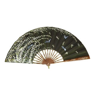Vintage Italian Silk Hand Fan For Sale