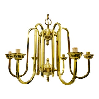 Vintage Brass Chandelier For Sale