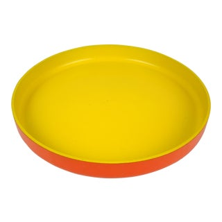 Op Art Yellow Orange Serving Tray For Sale
