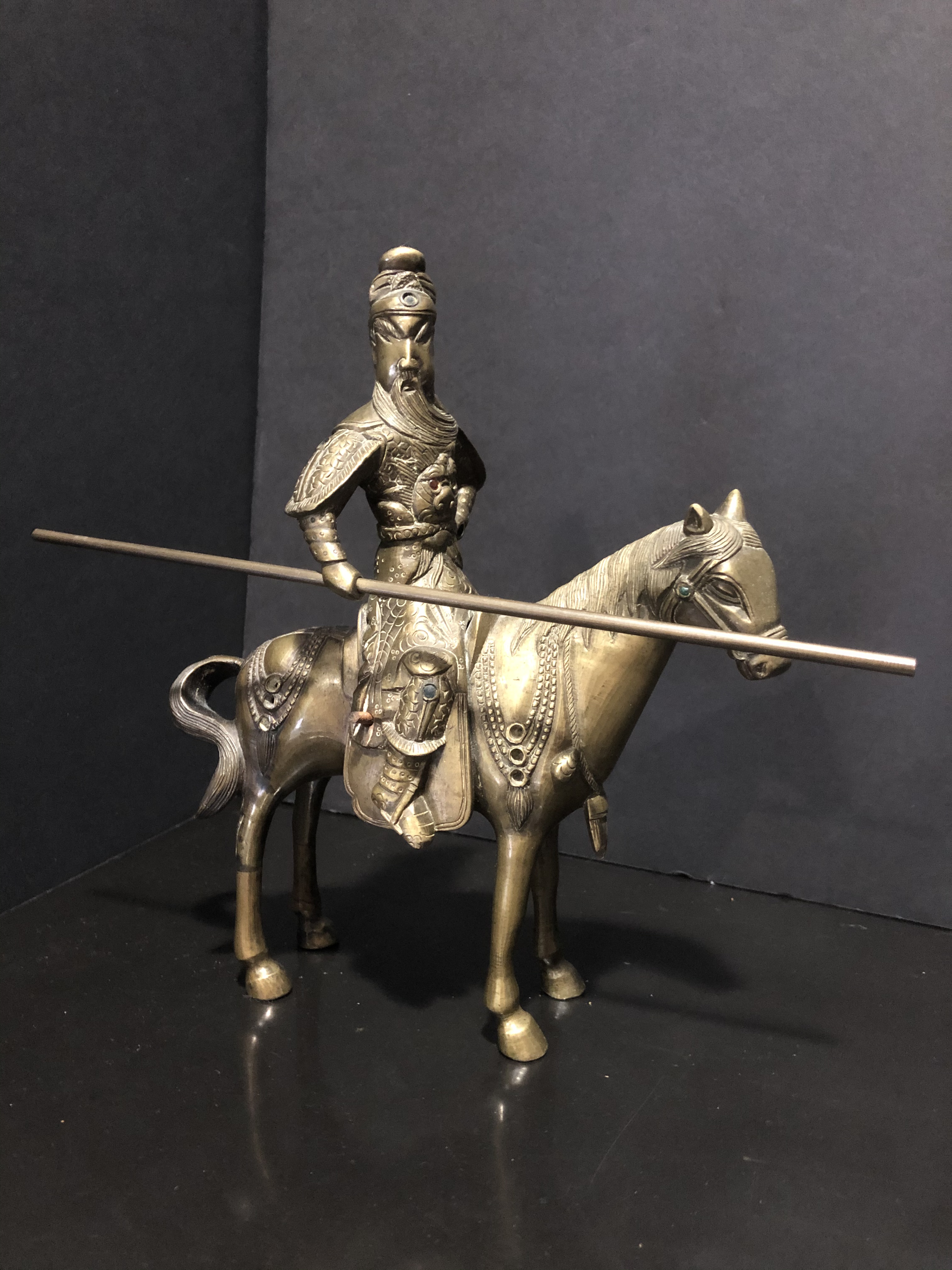 Vintage Chinese Brass Horse
