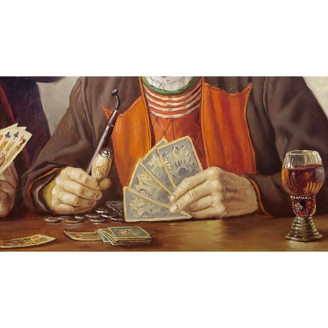 Otto Eichener -The Card Players -Oil Painting For Sale In Los Angeles - Image 6 of 11