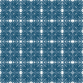 French Lace 'Indigo' Standard Wallpaper Roll For Sale