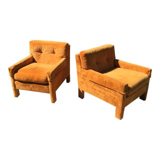 Milo Baughman for Directional Club Chairs Thayer Coggin - a Pair For Sale
