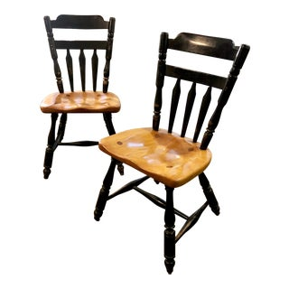 Cushman Colonial Creations Dining Side Chairs - A Pair For Sale