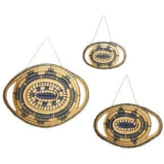 Woven African Baskets - Set of 3 For Sale