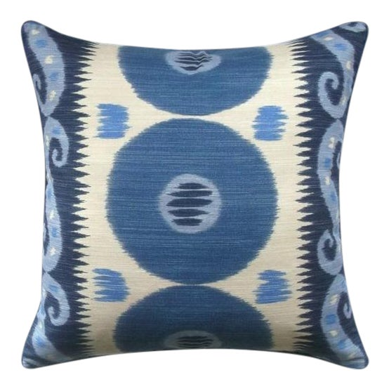 Lee Jofa Emir Ikat Down Feather Accent Pillow For Sale