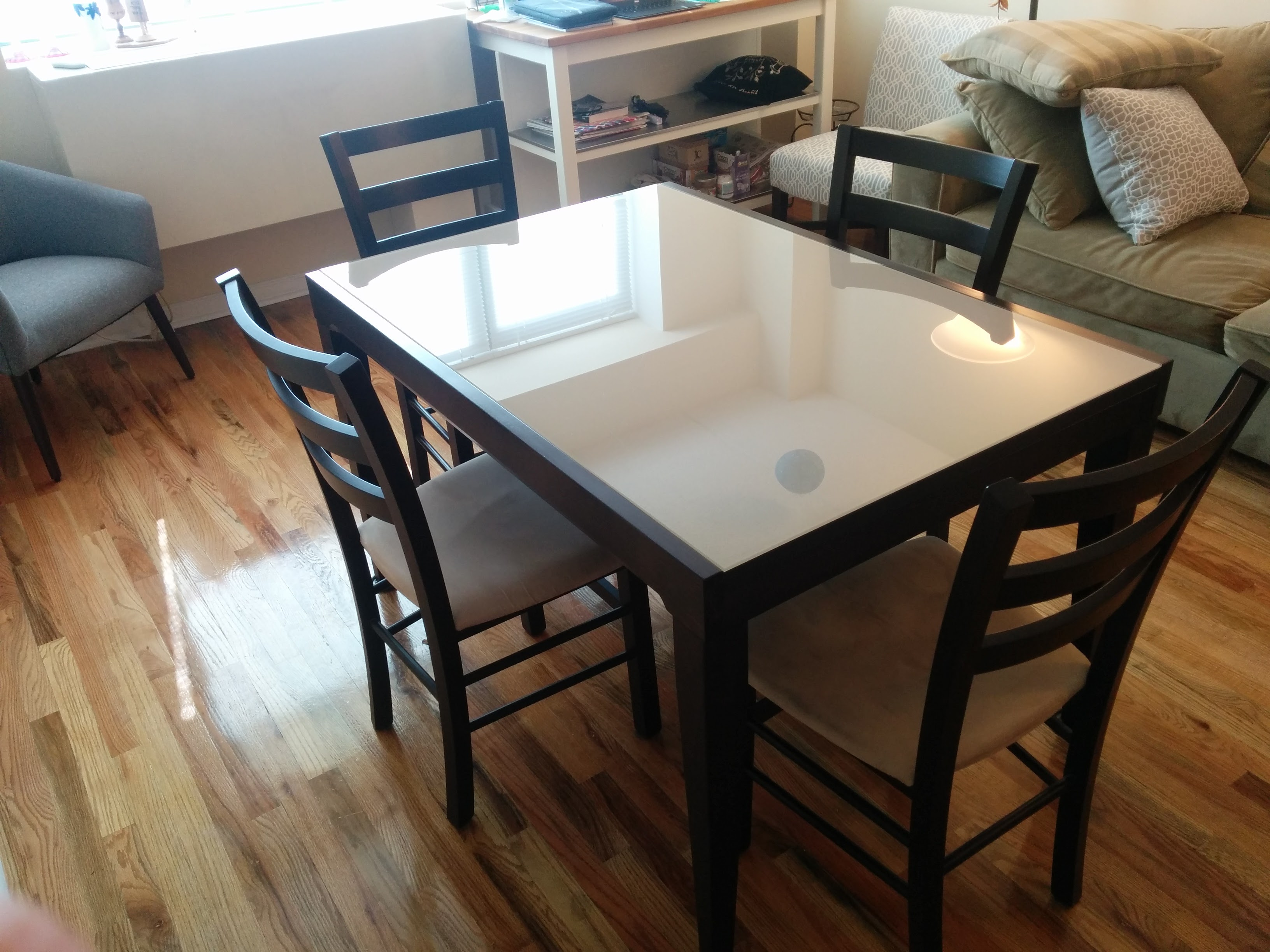 café latte glass top dining table - dining tables Cafe Ideas Table Tops