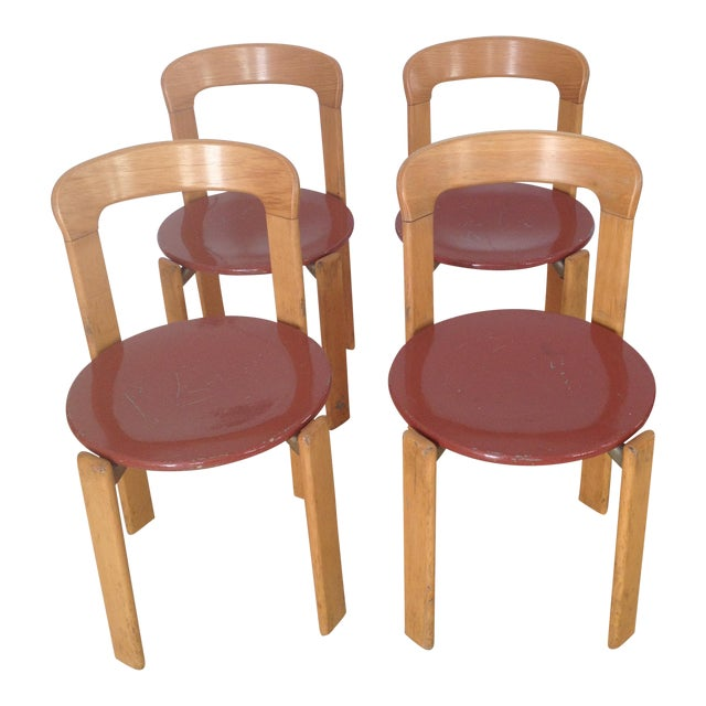 Swiss Co. Dietiker Bruno Rey Chairs - Set of 4 For Sale