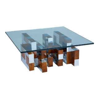 """1960's """"Cityscape"""" Coffee Table by Paul Evans for Directional For Sale"""