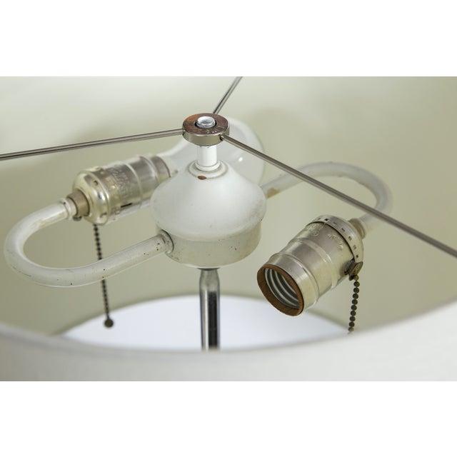 Robert Sonneman Mid-Century Chrome Ball Base Floor Lamp For Sale - Image 4 of 5