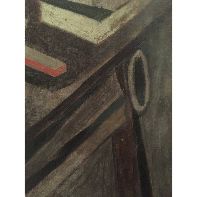 1930s Earl Horter Cubist Oil Painting For Sale - Image 9 of 10