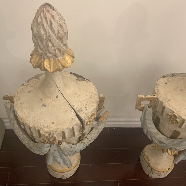 18th Century Antique Portuguese Finials - a Pair For Sale - Image 4 of 13