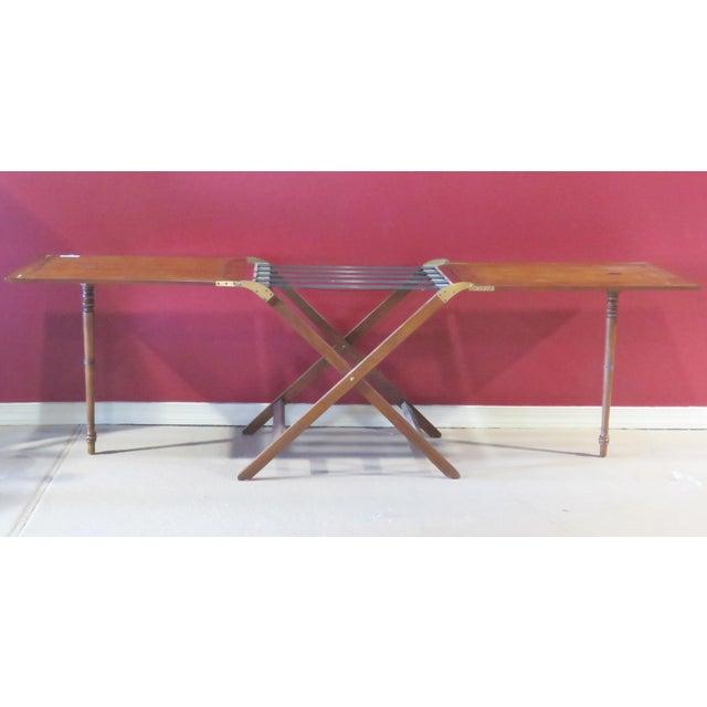 Baker Mahogany Butler's Convertible Buffet Table - Image 4 of 6