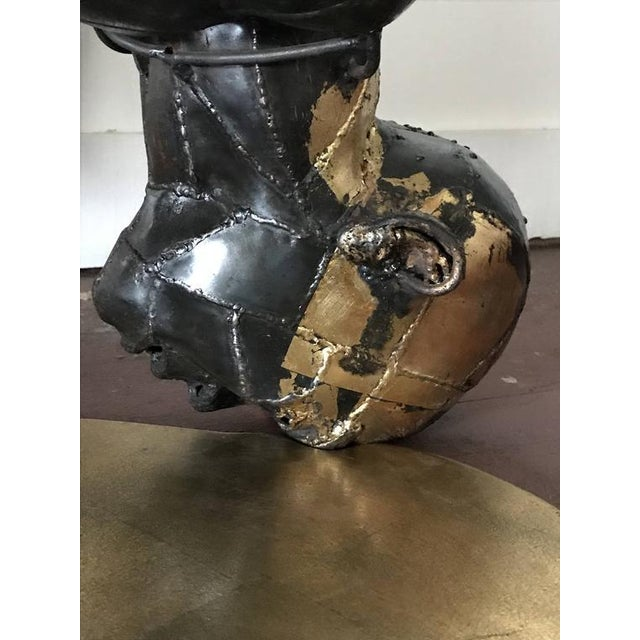 "Metal 1990s Vintage Surreal Cut Steel Floor Sculpture ""The Blood of Lino Gamacho"" by James Drake For Sale - Image 7 of 12"