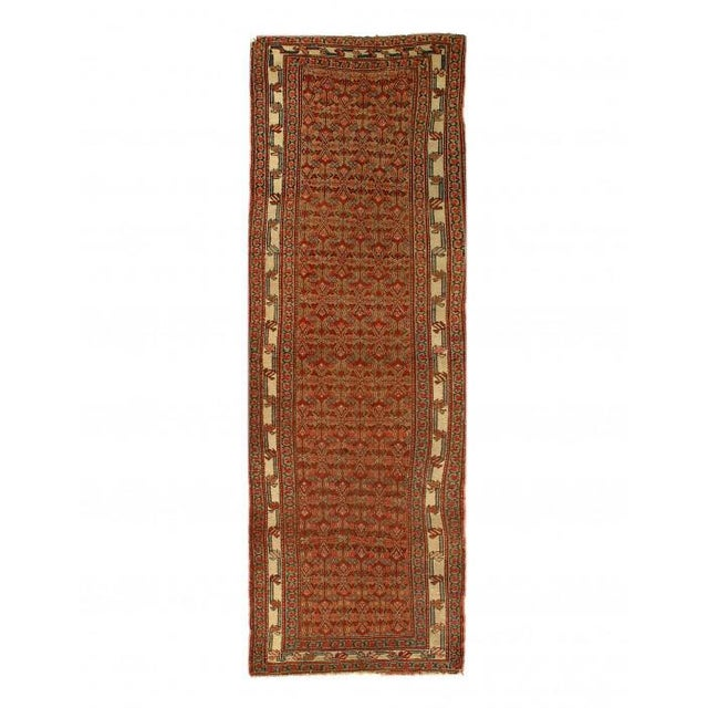 Pasargad Rust Antique Malayer Runner- 3'3'' X 9'4'' For Sale - Image 4 of 4