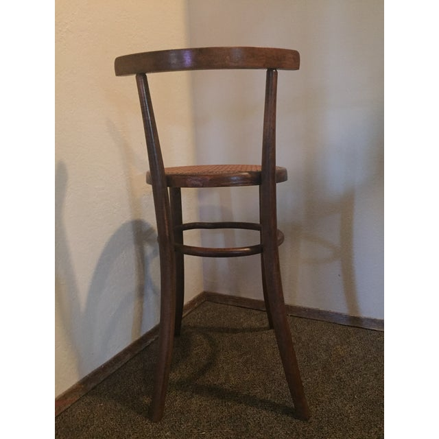 Arts & Crafts 1930s Antique Thonet Style Bentwood Counter Bar Stool For Sale - Image 3 of 13