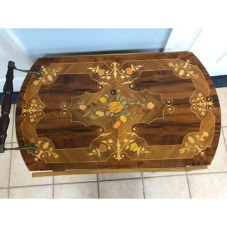 Vintage Italian Marquetry Wood Bar Cart Preview