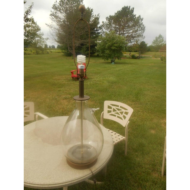 Mid-Century Hand-Blown Glass Table Lamp For Sale - Image 4 of 5