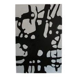 "Image of LisTED Artist ""Wayne Cunningham "" Modern Abstract Black & White Painting For Sale"