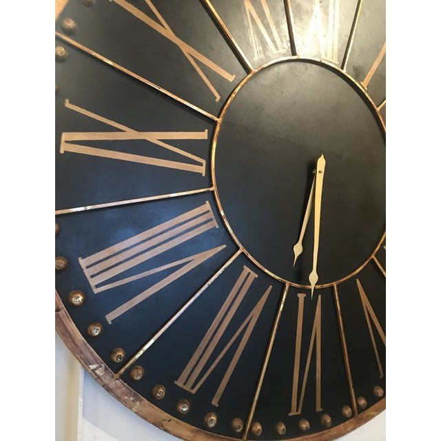 This huge black and copper clock face is sure to make a statement. Movement was recently added, so the clock is now...