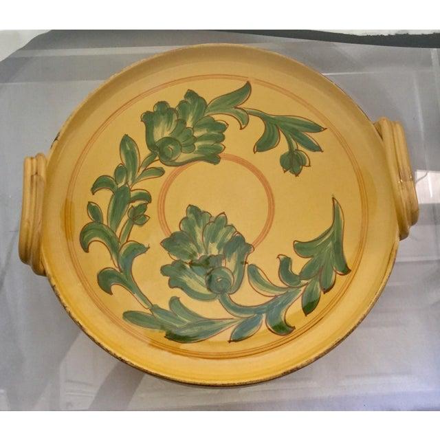 Vintage Carciofi for William Sonoma Italian Hand-Painted Ceramic Platter - Image 3 of 6