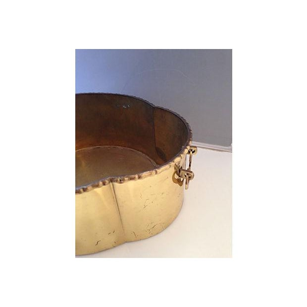 Brass Bamboo Style Planter - Image 3 of 6
