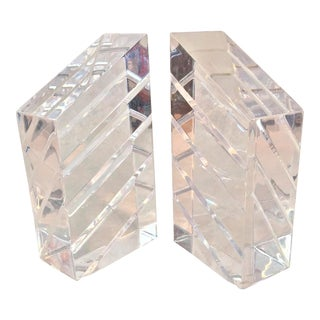 Vintage Astrolite Herb & Ritts Lucite Bookends - a Pair For Sale