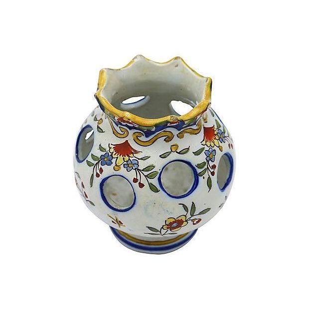Antique French Faience Potpourri Pot - Image 4 of 5